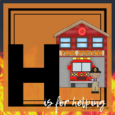 H is for Helping Our Community/Fire Safety Themed Unit-Preschool Lessons (1 week