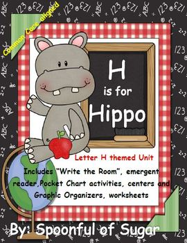 H is for Hippo (Letter H Unit)