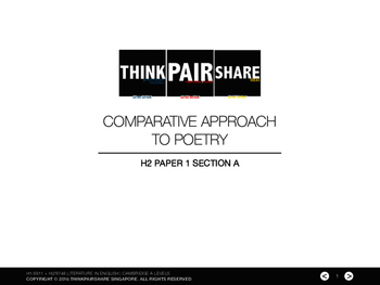H2/9748 Literature in English Paper 1 Section A: Comparative Approach to Poetry