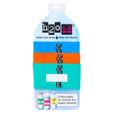 H2O ID 3 Pack Water Bottle Bands BLUE, ORANGE, GREEN Combination