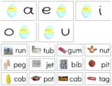 H437: SPRING|EASTER|CHICK (middle|vowel sound) (CVC|phonetic) sorting cards (3pg