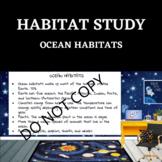 HABITAT STUDY- Ocean - STEM