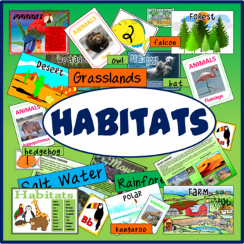 HABITATS ANIMALS SCIENCE RESOURCES DISPLAY EARLY YEARS KS1-2 WEATHER
