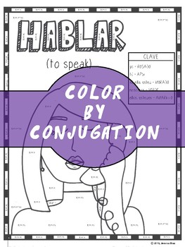 HABLAR (color by conjugation)