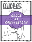 Spanish Verb Conjugation Worksheet | HABLAR