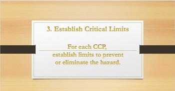 HACCP Plan Slideshow; 7 Principles & Write Your Own Plan; FACS & Culinary