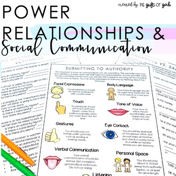 Authority Figures | Social Relationships | Peer Relationships