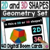 2D and 3D Kindergarten Shape Sorts Digital Boom Cards
