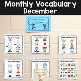 Monthly Vocabulary Word Wall: December