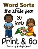 Word Sorts for the Whole Year {30 Sorts}