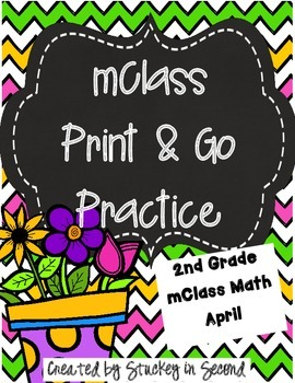 mClass Math PRINT AND GO Practice-2nd Grade-April