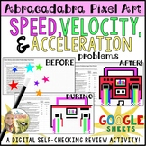 Speed Velocity Acceleration Pixel Art Digital Review