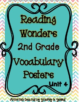 Reading Wonders Companion Grade 2 Vocabulary Posters Unit 4