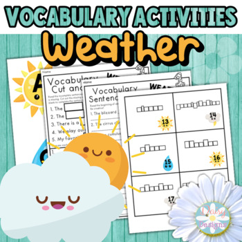 HALF OFF 48 HOURS - Weather Vocabulary Activities