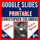 Christopher Columbus Google Slides ™ AND Printable BUNDLE