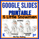 Digital AND Printable Five Little Snowmen BUNDLE + FREE BO