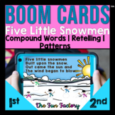 Digital Boom Cards™ Five Little Snowmen Activities | Compo