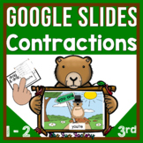 Digital Contractions Google Slides™  for Distance Learning