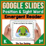 Digital St. Patrick's Day Emergent Reader | Position and S