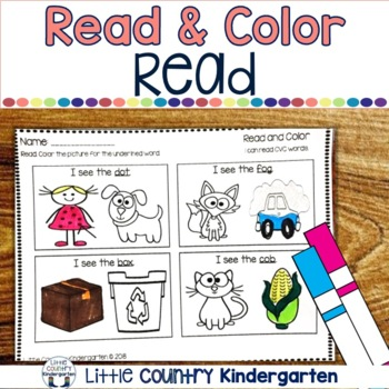 Read and Color CVC Words