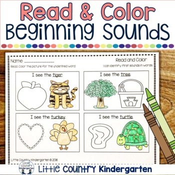 Read and Color Worksheets: Bundle of Phonics Practice