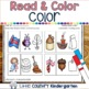 Read and Color Worksheets: Rhyming Words
