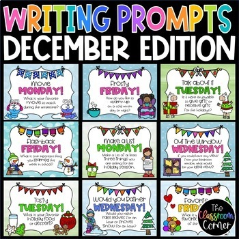 Daily Writing Prompts and Journals for December