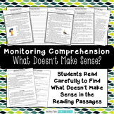 Monitoring Comprehension Activities and Reading Passages f