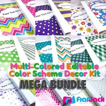 Multi Colored Editable Color Scheme Decor Kit Mega Bundle