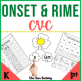 Onset and Rime Worksheets Activities Centers | CVC Words W