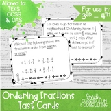 Ordering Fractions Task Cards | TEKS 4.3d | TEKS 6.2c | Math Intervention