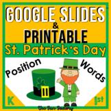 HALF OFF! Positional Word Activities St. Patricks Day Digi