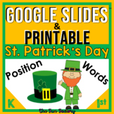 Positional Word Activities and Worksheets St. Patricks Day