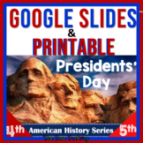 Presidents' Day Activities Reading Comprehension Digital A