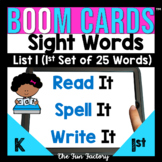 Sight Word Practice for Digital BOOM CARDS ™ Fry List 1 |