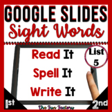 Sight Words Distance Learning Sight Words Google Classroom