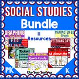 Social Studies Activities BUNDLE | Prek and Kindergarten