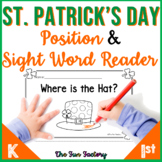 St. Patrick's Day Emergent Reader | Position and Sight Wor
