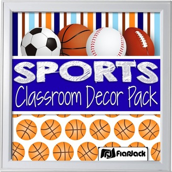 Editable Sports Classroom Decor Materials Pack