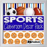 Editable Sports Classroom Decor Materials Pack
