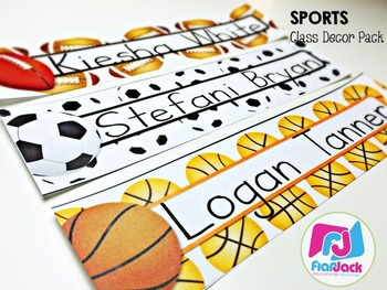 Editable Sports Classroom Decor Bundle