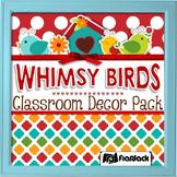 Editable Whimsy Birds Classroom Decor Bundle