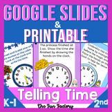 Telling Time Google Slides ™BUNDLE Digital and Printable T