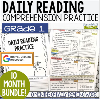 Daily Reading Morning Work: Grade 1 Bundle
