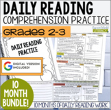 HALF OFF first 48 hours! Daily Reading Morning Work: Grades 2-3 GROWING Bundle