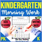 Back to School | Kindergarten Morning Work | Writing and Math