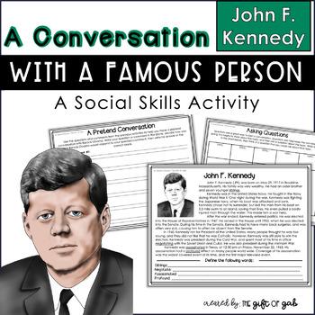 John F. Kennedy Conversation Skills Activity