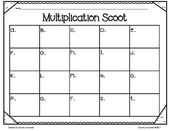 Multiplication Scoot BUNDLE with QR Codes {5 Games}