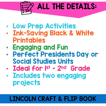 Abraham Lincoln Flip Book and Craft