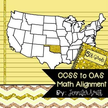 Fifth Grade Common Core to Oklahoma Academic Standards Math Alignment